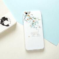 猫咪iPhone7手机壳6s情侣8plus苹果XSR文艺MAX华为OPPO小清新VIVO 6/6S 橘子树 软壳