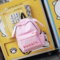 森系可爱中小学生书包女韩版日系小清新卡通双肩包校园背包潮