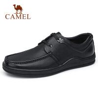 【下单立减120元】camel骆驼男鞋 秋季新款商务休闲系带皮鞋牛皮休闲驾车皮鞋男