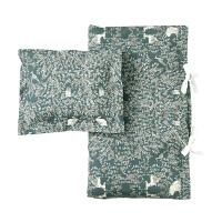 瑞典进口GARBO&FRIENDS 有机棉儿童床品套件婴儿枕套被套独立手绘插画设计