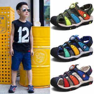 2017新款夏季童鞋儿童凉鞋男童包头男孩中大童防滑软底小孩沙滩鞋