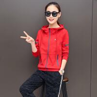 时尚休闲运动套装女春秋新款修身运动服气质大码显瘦卫衣两件套潮