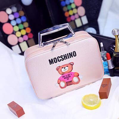 韩国可爱大容量化妆包化妆箱大号便携旅行小淑女手提收纳包小方包 米白色 小号 发货周期:一般在付款后2-90天左右发货,具体发货时间请以与客服协商的时间为准