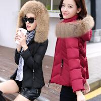 女短款冬装修身羽绒服大码棉衣棉袄外套潮