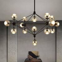 北欧复古魔豆吊灯创意个性现代简约客厅餐厅卧室工业风服装店灯具n7b