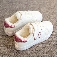 女童棉鞋加绒冬鞋2018新款秋冬季运动鞋子儿童二棉鞋宝宝初冬童鞋