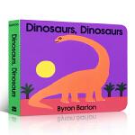 【发顺丰】英文原版绘本 Dinosaurs Board Book 恐龙纸板书撕不烂启蒙3-6岁儿童认知科普亲子幽默故事