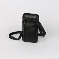 男士手机包穿皮带腰包多功能大容量休闲小单肩包男迷你真皮斜挎包SN7991