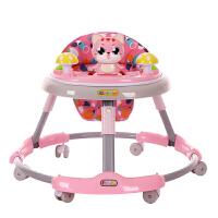 婴儿学步车多功能侧翻可折叠手推可坐男宝宝女孩学行车6-18个月J18 天空蓝猫咪款 静音轮+脚垫+音乐