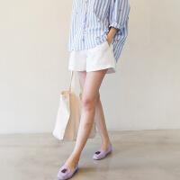 孕妇短裤女夏潮妈夏天3-9个月薄款夏季装春夏裤子宽松外穿打底裤