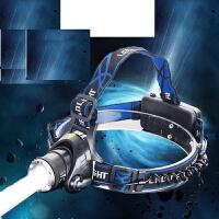 LED头灯 强光充电夜钓鱼头灯LED矿灯T6头灯头戴充电探照灯