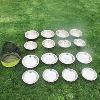 野外餐具不锈钢便携套装野餐露营碗户外野炊碗烧烤工具不锈网盘子