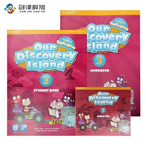 包邮培生原版进口 欧美小学主流英语教材 ODI Our discovery island 第3级别学生用书包 学生书+练习册+CD 少儿美语英语课程