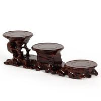 工艺品摆件木托 实木质花瓶木座红木雕刻奇石根雕底座