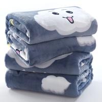 冬季法兰绒毛毯被子珊瑚绒毯子加厚双人单人学生宿舍儿童保暖床单