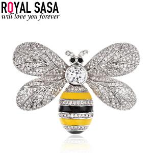皇家莎莎蜜蜂胸针女配饰日韩可爱学生欧美卡通创意胸花项链两用