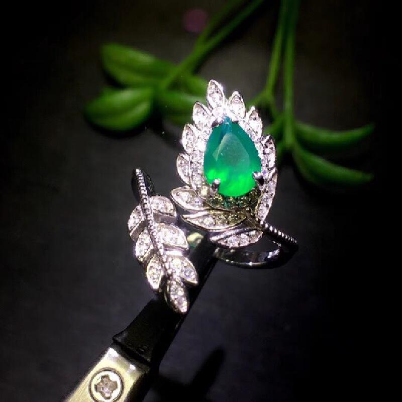 哥伦比亚祖母绿戒指,精品奶奶绿