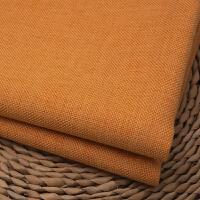 素色加厚亚麻沙发布料纯色棉麻田园面料抱枕靠垫软包桌布坐垫定制!