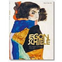 大8开德国TASCHEN原版Egon Schiele: Complete Paintings 1908-1918席勒画
