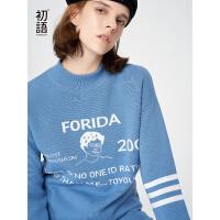 【2件3折到手价:112.8元,活动时间:10.24-11.1】初语新款女上衣时髦新款套头毛衣外套韩版宽松落肩袖针织衫