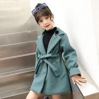 童装女童洋气外套秋装2018新款儿童小女孩秋冬款呢子大衣韩版12岁