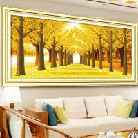 5d钻石画满钻客厅欧式黄金满地贴钻十字绣钻石绣风景大幅油画系