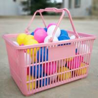 粉色超市购物篮 大号购物筐塑料篮买菜蓝收纳篮手提篮KTV酒水篮筐