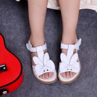 女童凉鞋夏季真皮女童公主鞋凉鞋中小童学生凉鞋皮鞋