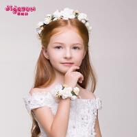 女儿童花环手花套装 儿童节演出饰品头花发饰女童花环头饰