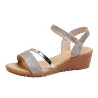 WARORWAR 法国新品YN38-818夏季韩版坡跟女凉鞋