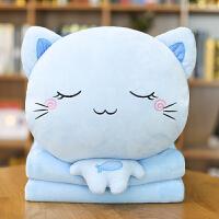 可�圬�咪暖手抱枕插手�捎帽蛔用��q玩具捂手枕冬季布娃娃女孩�Y物