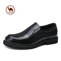 骆驼牌男鞋秋冬季男士皮鞋男韩版真皮鞋子英伦商务正装皮鞋