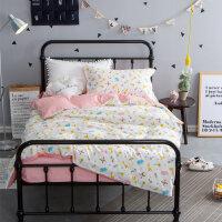 床单三件套学生宿舍 单人1.2米纯棉儿童被套枕套0.9m床上用品被罩 高密棉 森林的小宠