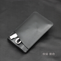 适用魅族标准快充版移动电源充电宝10000mAh收纳包保护袋皮套 黑色 双层实用款