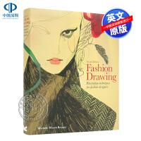 英文原版 时装素描,第二版:时装设计师的插图技巧 艺术书 Fashion Drawing, Second Edition