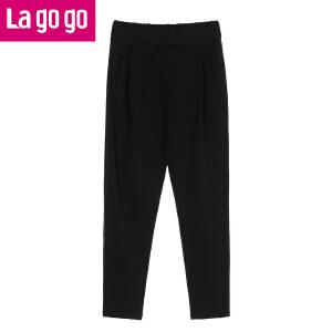Lagogo/拉谷谷2016年冬季新款时尚休闲裤子