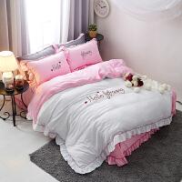 公主风纯棉四件套 床单被套磨毛床上用品1.5/1.8/2.0米床