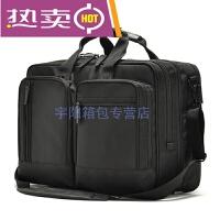 新款大容量男包公文包横款男士商务手提包单肩斜跨包休闲包双肩电脑包多功能包