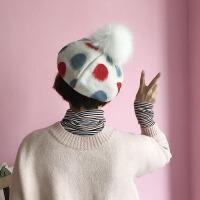 帽子女冬天韩国秋冬季可爱百搭圆点贝雷帽女韩版潮英伦蓓蕾画家帽
