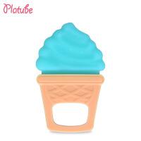 婴儿牙胶宝宝冰淇淋磨牙棒玩具婴幼儿食品硅胶安抚咬胶母婴用品