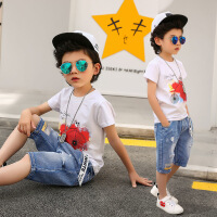 男童夏装新款套装儿童夏季童装中大童短袖帅气洋气时尚