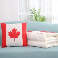 空调枕被汽车靠枕折叠抱枕被子两用多功能个性可爱靠垫办公室午睡 40x40cm(展开110x150cm)