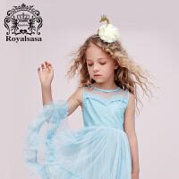 皇家莎莎 儿童饰品套装礼盒天鹅女童发饰发夹发箍头饰皇冠边夹头箍