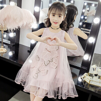 女童连衣裙夏装2019新款小女孩蓬蓬纱短袖儿童公主裙子夏天