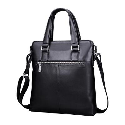 男士包包手提包竖款简约休闲公文包男商务电脑背包单肩斜挎包男包