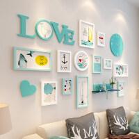 ins仙少女房间布置相框挂墙组合创意个性卧室客厅照片墙相片装饰