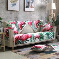 沙发垫简约现代四季通用布艺防滑坐垫ins冬季毛绒皮沙发套罩