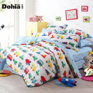 多喜爱家纺新品全棉卡通三/四件套儿童床上用品套件宇宙迷航