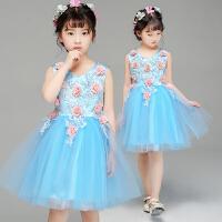 六一儿童演出服蓬蓬裙纱裙女童舞蹈表演服幼儿园合唱服公主裙服装