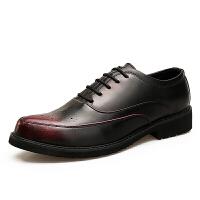 透气休闲男士工作正装皮鞋秋冬新品韩版内增高发型师青年尖头男鞋